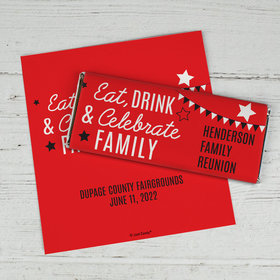 Eat, Drink, and Family Personalized Candy Bar - Wrapper Only