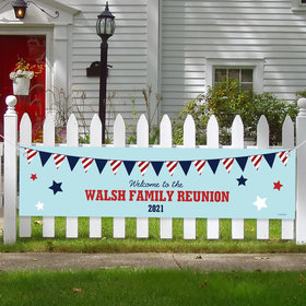 Personalized Family Reunion Banner - Patriotic Family