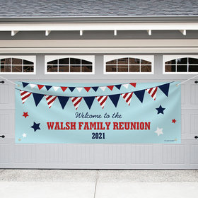 Personalized Family Reunion Garage Banner - Patriotic Family