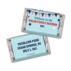 Chocolate Candy Bar and Wrapper Patriotic Family Reunion Favor