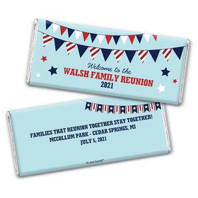 Personalized Family Reunion Patriotic Hershey's Chocolate Bar & Wrapper