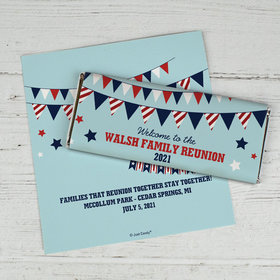 Patriotic Family Personalized Candy Bar - Wrapper Only