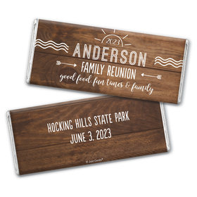 Personalized Family Reunion Sun Hershey's Chocolate Bar & Wrapper