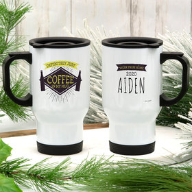 Personalized Stainless Steel Travel Mug (14oz) - Just Coffee