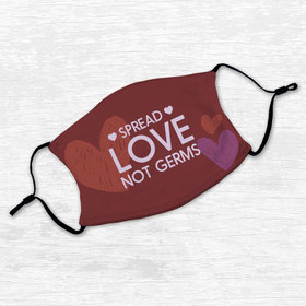 Adult Face Mask - Spread Love Not Germs
