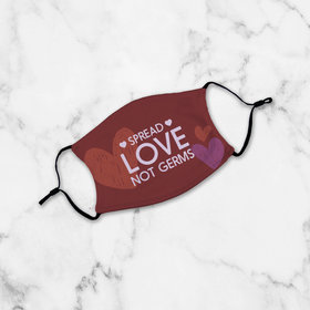 Youth Face Mask - Spread Love Not Germs