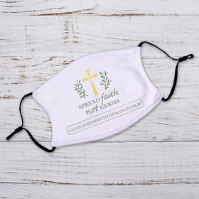 Adult Face Mask - Spread Faith not Germs