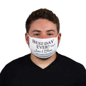 Personalized Face Mask - Best Day Ever Wedding