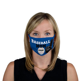 Personalized Face Mask - Baseball Sports Mom