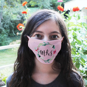 Personalized Face Mask - Floral Monogram Initials