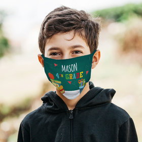 Personalized Face Mask - Kid in Class 4th Grade
