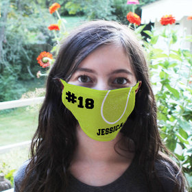 Personalized Face Mask - Tennis Ball