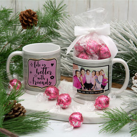 Personalized Life is Better with Friends 11oz Mug with Lindt Truffles