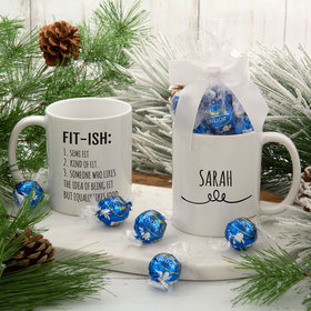 Personalized Fit-ish 11oz Mug with Lindt Truffles