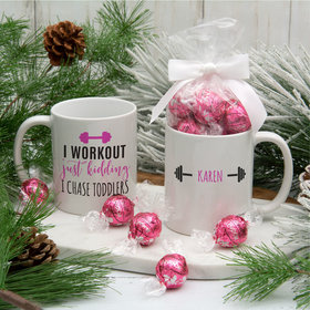 Personalized Toddler Workout 11oz Mug with Lindt Truffles