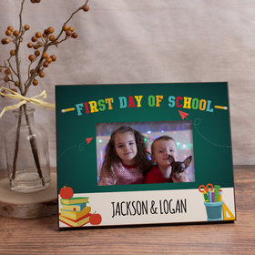 Personalized Picture Frame - First Day of School Supplies