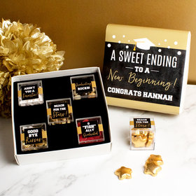 Personalized Graduation Premium Gift Box with 5 JUST CANDY® favor cubes - A Sweet Ending to a New Beginning!