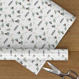 Custom Wrapping Paper - Let It Snow Logo Christmas