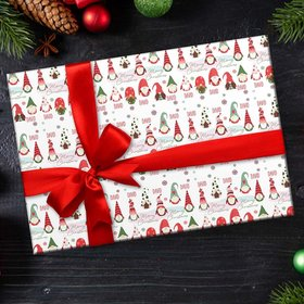 Custom Wrapping Paper - Gnomes Christmas
