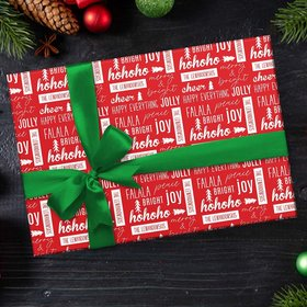 Custom Wrapping Paper - Happy Everything Christmas