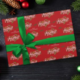 Custom Wrapping Paper - Merry and Bright Christmas
