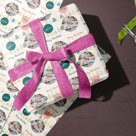 Custom Wrapping Paper - Family Photo Christmas
