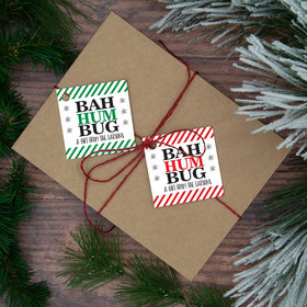 Personalized Bah Hum Bug Gift Tags (24 Pack)