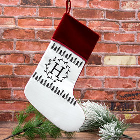 Custom Christmas Stocking Monogram Trees