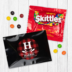 Personalized Christmas Holiday Plaid - Skittles