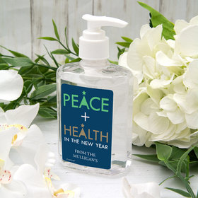Personalized Hand Sanitizer 8 fl. oz bottle - Peace and Health in the New Year