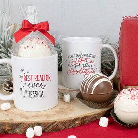 Personalized Christmas 11oz Mug with Hot Chocolate Bomb - Best Ever