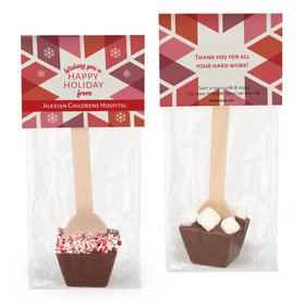 Personalized Red Snowflake Hot Chocolate Spoon