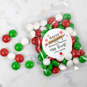 Personalized Christmas Candy Bag with JC Chocolate Minis - To an Amazing Teacher