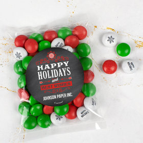 Personalized Christmas Candy Bag with JC Chocolate Minis - Happy Holidays Chalkboard