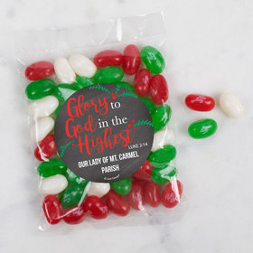 Personalized Christmas Candy Bag with Jelly Belly Jelly Beans - Glory to God in the Highest