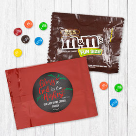 Personalized Christmas Glory to God in the Highest - Milk Chocolate M&Ms