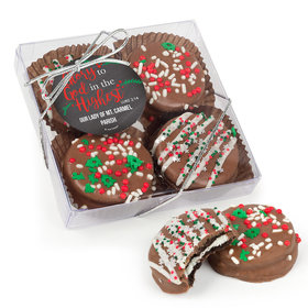 Personalized Christmas Glory to God in the Highest Gourmet Belgian Chocolate Covered Oreos 4pc Gift Box