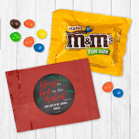 Personalized Christmas Glory to God in the Highest - Peanut M&Ms