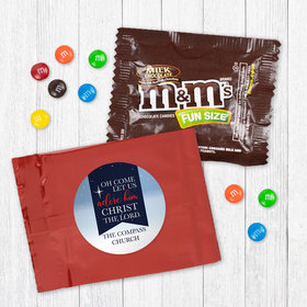 Personalized Christmas Oh Come Lets Adore Him - Milk Chocolate M&Ms