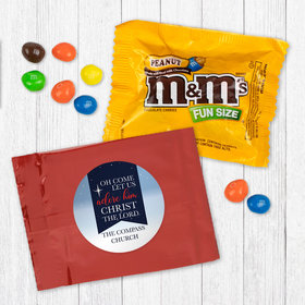 Personalized Christmas Oh Come Lets Adore Him - Peanut M&Ms
