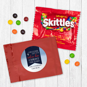 Personalized Christmas Oh Come Lets Adore Him - Skittles