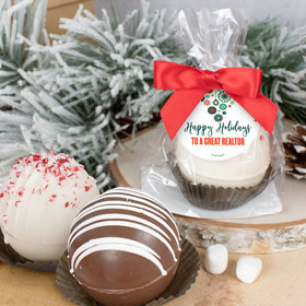 Personalized Christmas Hot Cocoa Bomb - Stars and Snowflakes
