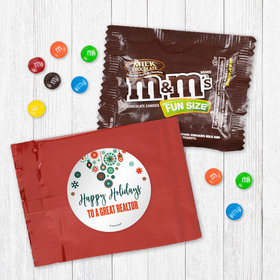 Personalized Christmas Stars and Snowflakes - Milk Chocolate M&Ms