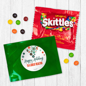 Personalized Christmas Stars and Snowflakes - Skittles