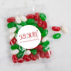 Personalized Christmas Candy Bag with Jelly Belly Jelly Beans - Rejoice