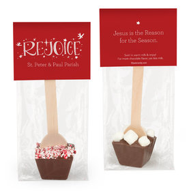 Personalized Rejoice Hot Chocolate Spoon
