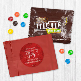 Personalized Christmas Comfort and Joy - Milk Chocolate M&Ms