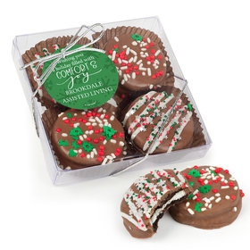 Personalized Christmas Comfort and Joy Gourmet Belgian Chocolate Covered Oreos 4pc Gift Box