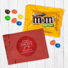 Personalized Christmas Comfort and Joy - Peanut M&Ms
