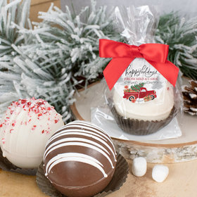 Personalized Christmas Hot Cocoa Bomb - Rustic Red Truck